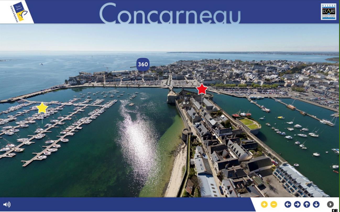 Visite virtuelle en 360° de la ville de Concarneau à partir de témoignages et d'images d'archives (29)
