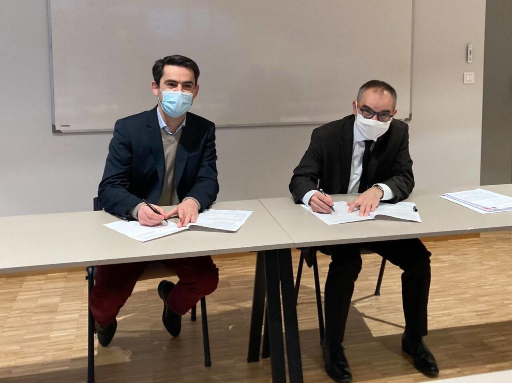 Christophe Aubineau et Christophe Geffard, le 5 janvier. Cli. P. Boisseleau